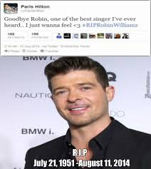 Robin Williams Meme - r i p robin williams you were always the best singer by