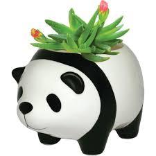 Animal Pots by Panda Bear Plant Pot Vases Unique Gifts Gear U0026 Home Decor
