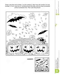 Halloween Bats Coloring Pages by Dot To Dot And Coloring Page Halloween Bat Stock Images Image