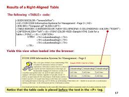 Html Table Font Color Tutorial 4 Designing A Web Page With Tables Ppt Video Online
