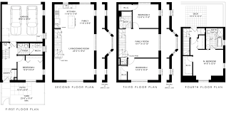 brownstone floor plans new york city brownstone house plans row floor style carsontheauctions