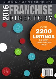 2016 aus u0026 nz business franchise directory by cgb publishing the