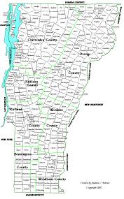 Vermont County Map Vermont Genealogy Resources County Changes