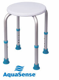 aquasense adjustable shower stool bath u0026 shower aids