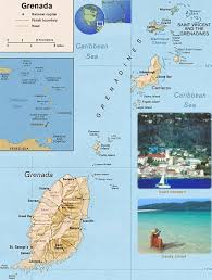 Map Caribbean Sea by Grenada Map Saint George U0027s