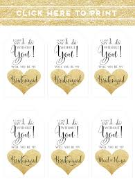 be my bridesmaid invitations easy will you be my bridesmaid idea free printable