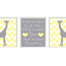 Giraffe Nursery Decor Giraffe Nursery Print Set Chevron From Rizzleandrugee On