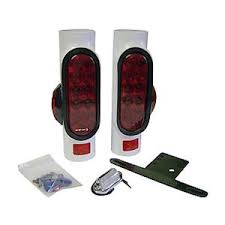 boat trailer guides with lights boat trailer pipe light led for guide poles posts w side markers