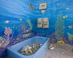 Blue And Green Kids Bathrooms Contemporary Bathroom by Ocean Styles Beach Decor Decor Arch Ideas Kids Bathroom Wall