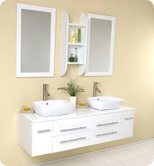 59 Bathroom Vanity by 59 U201d Fresca Bellezza Fvn6119wh White Modern Double Vessel Sink