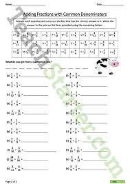 adding and subtracting like fractions lesson plan u2013 teach starter