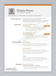 Resume Template Examples Free by Free Resume Templates Examples Great 10 Ms Word Download In 93