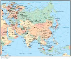 map of asia countries and cities asia map and capitals major tourist attractions maps