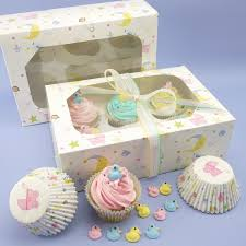 Baby Shower Pastel - pretty pastel baby shower christening cupcake kit