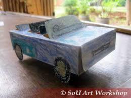 membuat miniatur mobil dari kardus mainan dari kardus susu sd4 sou art workshop