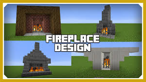minecraft how to build a fireplace design tutorial easy survival