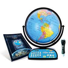 intelliglobe ii deluxe interactive globe for kids ships free