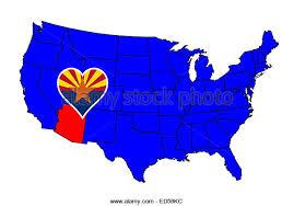 map of the united states with arizona highlighted arizona state flag icon stock photos arizona state flag icon