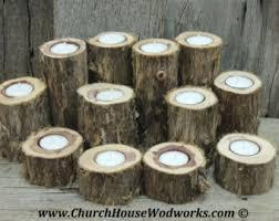 Wedding Candle Centerpieces 12 Irregular Cedar Tree Branch Candle Holders Rustic Wedding