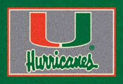 Area Rugs Miami University Of Miami College Area Rugs Mats U0026 Carpet