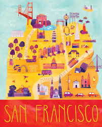 san francisco on map 21 gorgeous illustrated maps of san francisco upout