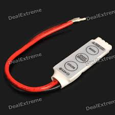 dc led strip lights 3 key controller for 5050 3528 rgb led light strip dc 12 24v