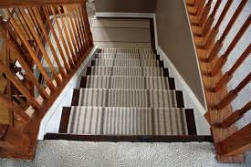 carpet stairs to wood modern railing stairs and kitchen design