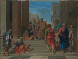 nicolas poussin saints peter and john healing the lame man the met