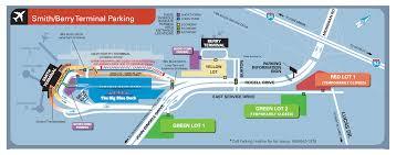 detroit metro airport map parking scheme near smith berry terminal of detroit metropolitan