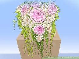 bridal bouquet holder table clip how to arrange a cascade bridal bouquet 12 steps with pictures