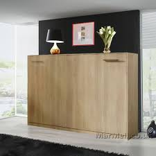 small double horizontal wall bed space saving murphy bed