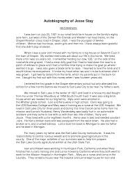 biography exle yourself best photos of exles of autobiography on yourself sle