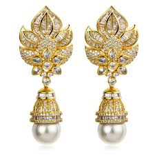 beautiful gold earrings 25 beautiful earrings for women gold designs playzoa