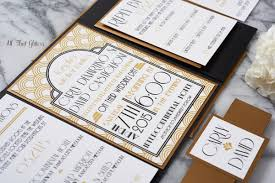 gatsby wedding invitations deco suite wedding invitation all that glitters invitations