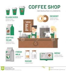 Flats Designs And Floor Plans Coffee Shop Infographic Flat Design Stock Vector Image 59800669