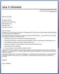 cover letter examples executive assistant administrative