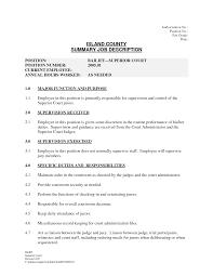 best photos of job description forms templates free job