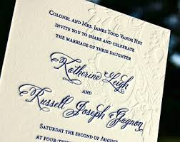 embossed wedding invitations gold foil wedding invitation featuring letterpress in gold and