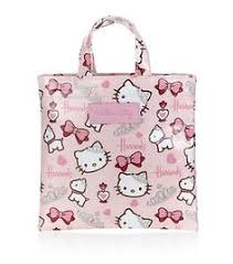 kitty mini pink patent embossed tote bag loungefly official
