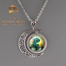 wholesale animal necklace images Stitch turtle necklace animal jewelry moon pendant kid jpg