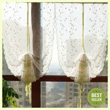 aliexpress com buy floral embroidery tulle curtains roman window