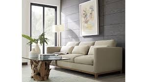 2 Seater Sofa With Chaise Taraval 2 Seat Sofa With Oak Base Crate And Barrel