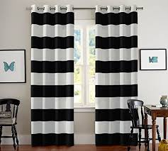 black and white striped curtain cute kitchen curtains on burlap