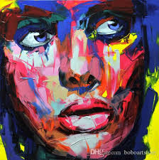 2017 high quality multicolor francoise nielly pop art portraits