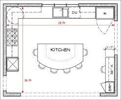 Kitchen Floor Plans Interesting Beautiful Kitchen Floor Plans Best 25 Kitchen Layouts