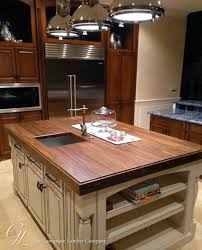 walnut wood counter for kitchen island in florida