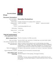 Teacher Job Resume Format Resume Cv Format Resume Cv Cover Letter