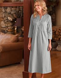 elderly nightgowns cotton nightgown for women heathered soft knit ruffled nightgown