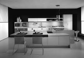 innovative kitchen with modern chairs and white cabinets simple
