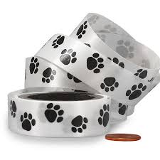 paw print ribbon paw print patterned curling ribbon paper mart